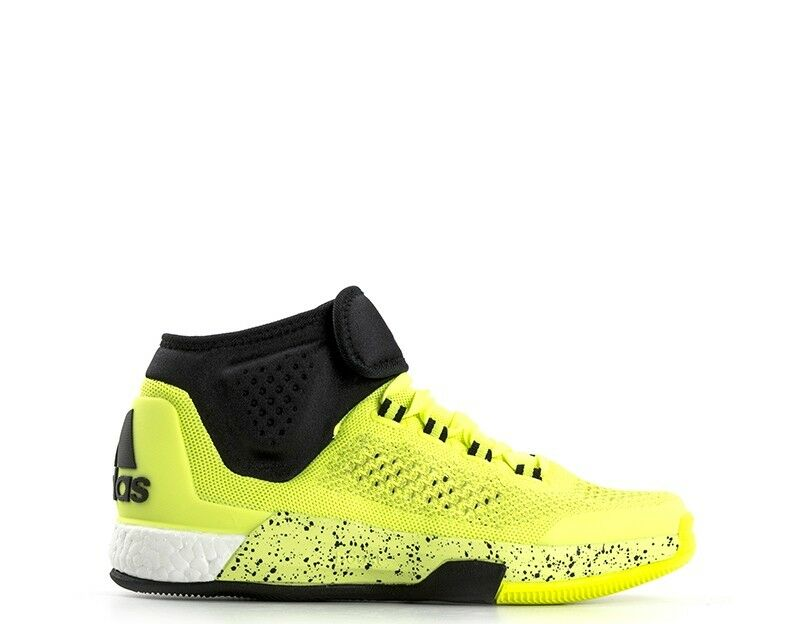 Shoes ADIDAS man's  noir /YELLOW Inserts leather,Fabric D69450S