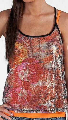 Buckle Exclusive Daytrip Size S, M, L, Floral & Scroll Tank Top NWT
