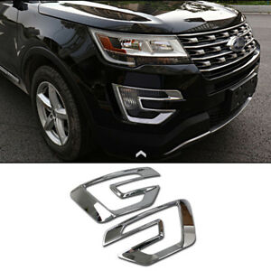 Beautost Car Chrome Front Fog Light Lamp Moulding Trim Trims Fit for Toyota Sienna 2015 2016 2017