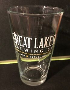 IPA CLEVELAND Ohio 16 oz GREAT LAKES BREWING COMPANY 3x Glasses Beer Glass