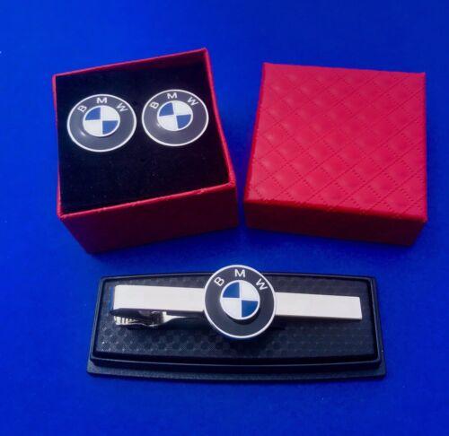 BMW Krawatte Clip /& Manschettenknöpfe Set Auto Luxus Auto Auto Logo US Verkäufer