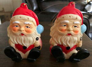 Vintage rubber Santa squeak toy