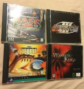 Computer Games Windows 98 95 Lot Of 4 Pinball Bass Tournament Need
