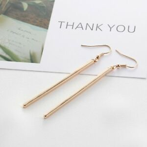 Newular-Women-Fashion-Jewelry-Ear-Rose-Gold-Bar-Dangle-Hook-Drop-Earrings