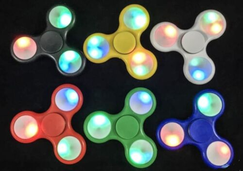 Laser LED Fidget Hand Tri-Spinner ADHD Toy Anti Stress Pack Of 5 Pieces