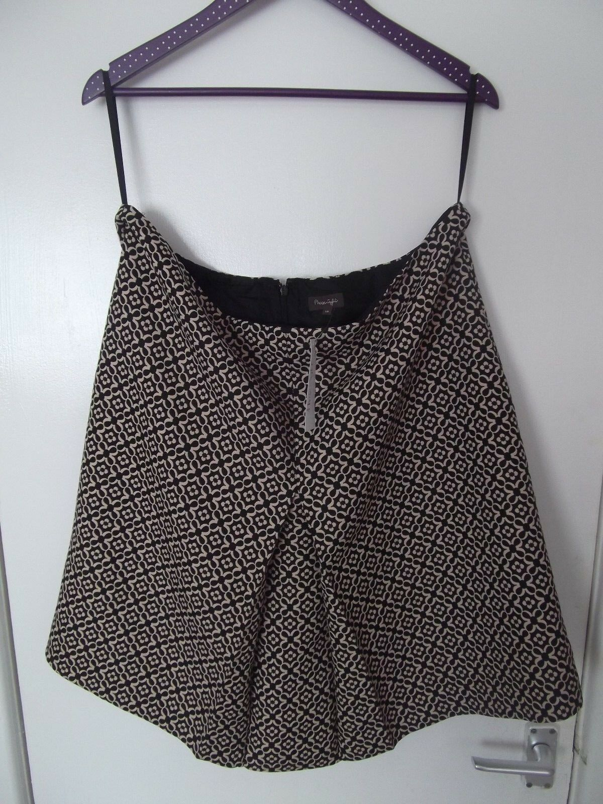 Ladies PHASE EIGHT BROWN PATTERN SKIRT NEW WITH TAGS