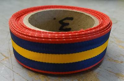 """12 /"""" REPLACEMENT PIECE  #RB93 FAITHFUL SVC MINI-MEDAL RIBBON STOCK D.C N.G"""