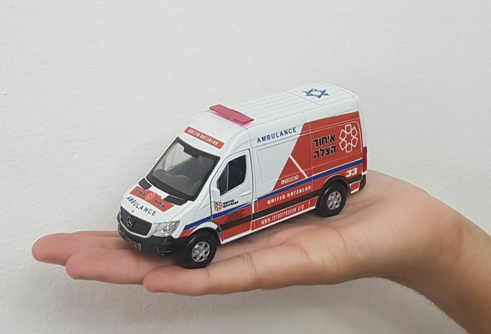 Israel ambulance united hatzalah Mercedes Benz Sprinter scale 1 46 model toy bes