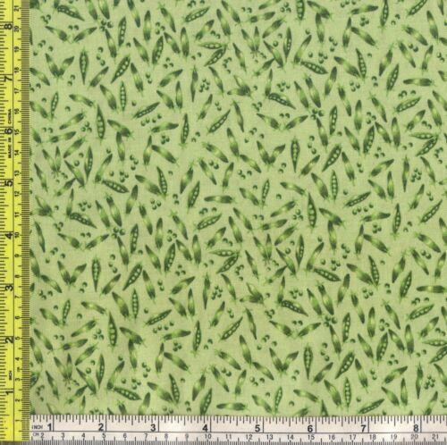 Green Pea Pods Jack /& Beanstalk 100/% Cotton makower uk Fabric 1 yard off bolt