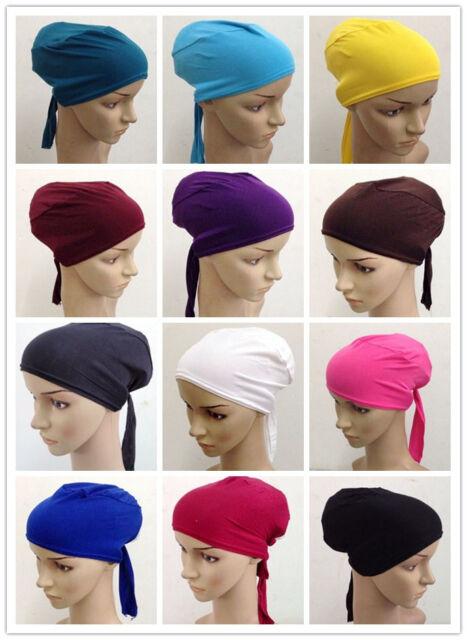 Muslim Women Inner Hijab Caps Islamic Underscarf Headwear Turban Headwrap Hats