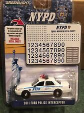 Greenlight  NYPD 2011 Ford Crown Victoria Police Interceptor w/ decal sheet