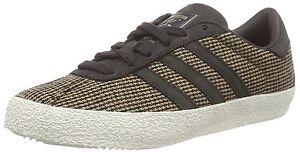 Details about Men's adidas Originals Gazelle 70S Dark Brown White Trainers Shoes Tweed B24979
