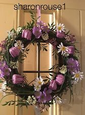 Gisela Graham Springtime Wreath Home Wall Door Fritillaria Mixed Flowers