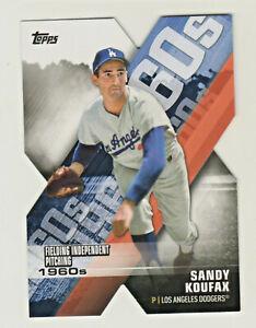 2020 Topps DECADE OF DOMINANCE DIE CUT #DOD-7 SANDY KOUFAX Los Angeles Dodgers