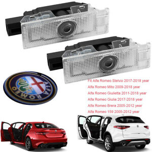 Car-Door-LEDs-Projector-Laser-Light-For-Alfa-Romeo-Stelvio-Giulia-Brera-159-Mito