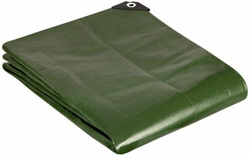 GardenMate 1.5x6m 5ftx20ft Tarpaulin waterproof heavy duty Green tarp sheet