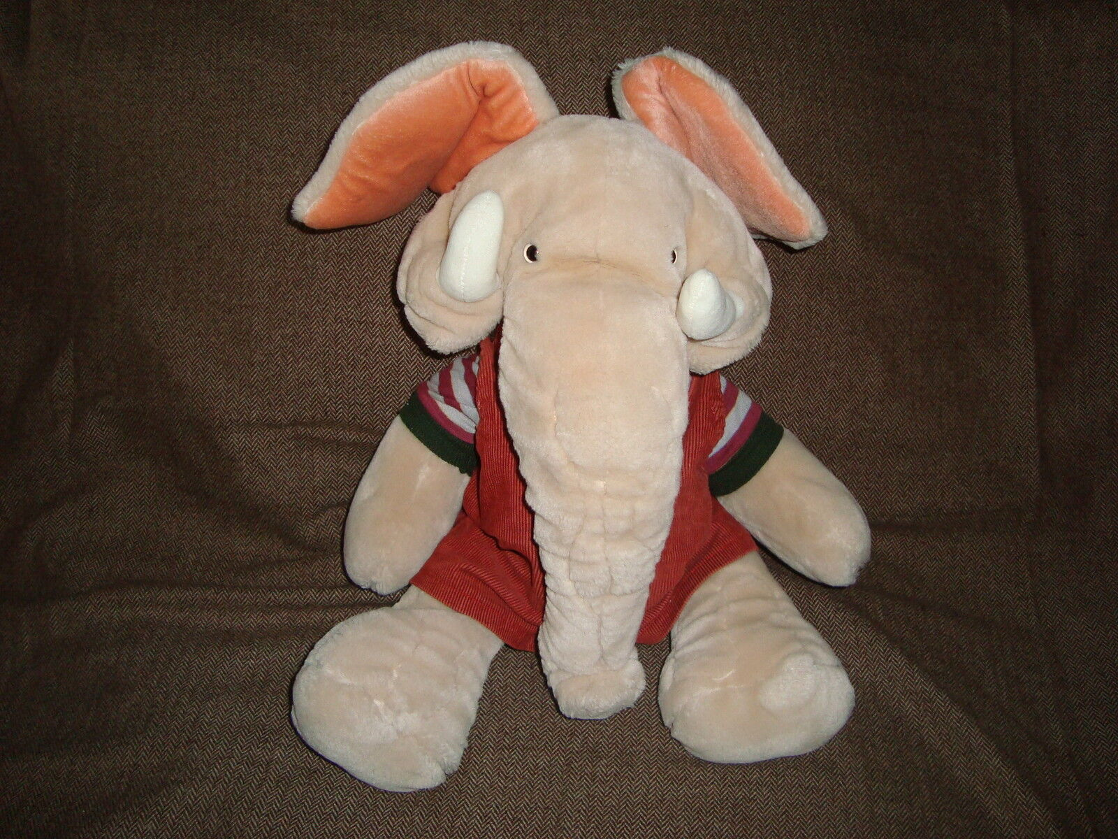 Wrinkles Wrinkles Elephant Full Body Hand Puppet Boy Trunkit Vintage 1985 Plush 18