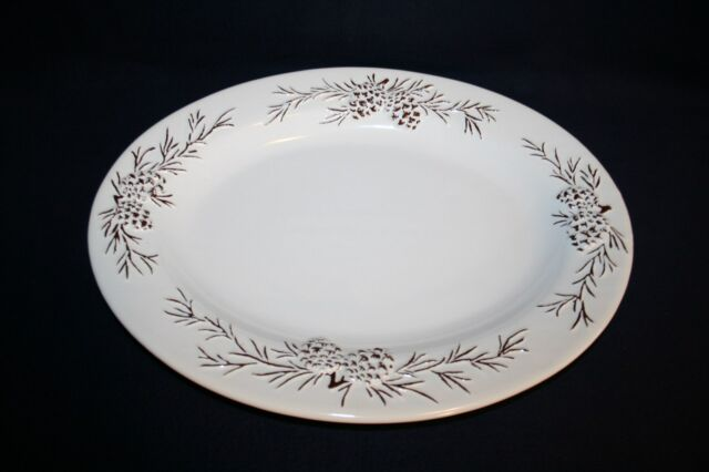 NEW 222 Fifth ZOE WHITE Oval LARGE Serving Platter 14 INCH