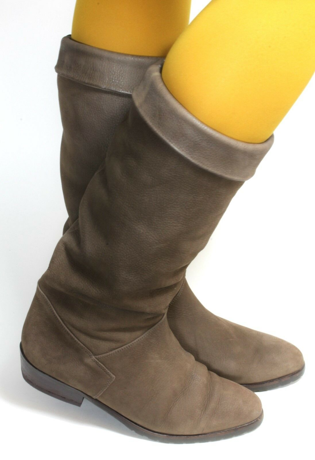 Elegant Damenstiefel Stiefel Vintage Stiefel Leder warm weich Winter Military 38