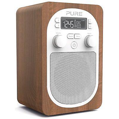 PURE Evoke H2 Portable DAB+ Digital FM Radio Walnut
