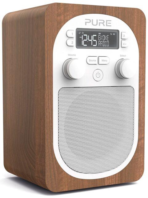 Pure Evoke H2 PORTABLE DAB+ NUMÉRIQUE RADIO FM noyer
