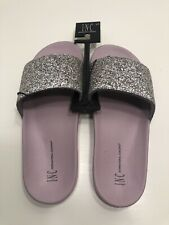 Designer INC International Concepts Macy/'s Glitter Pool Slides Slipper L 9//10