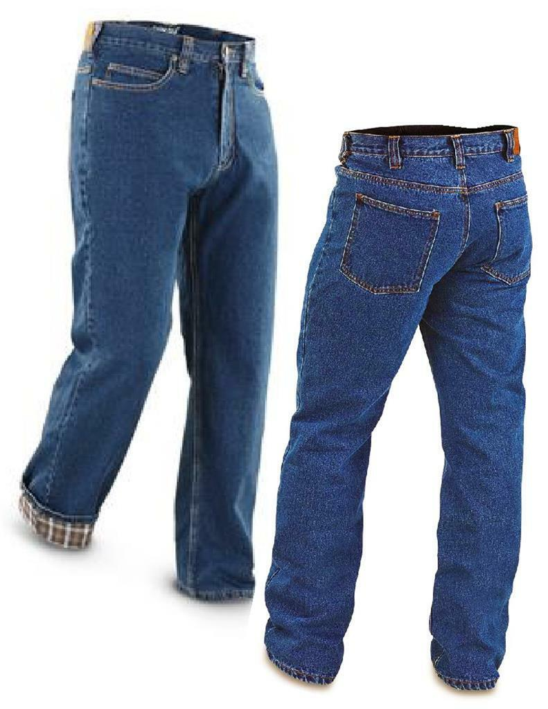 NWT Men's FLANNEL LINED JEANS Stonewashed Denim 100% Brushed Cotton Heavyweight