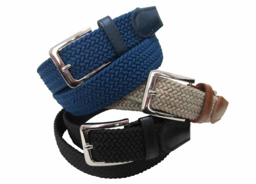 BRAIDED NYLON STRETCH BELT IN 4 COLORS AND 6 SIZES TO FIT MOST /& ON SALE #4001