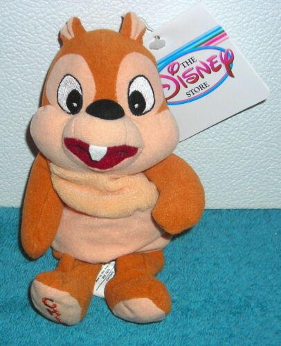 "Disney Store Exclusivo Chip 7 /""Beanbag De Felpa De Juguete"
