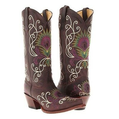 Tony Lama Ladies Vaquero Espresso Cowgirl Boots VF3039 NIB