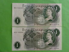England 1 Pound 1970 - 1977 QEII (aUNC), Great Britian, 2pcs