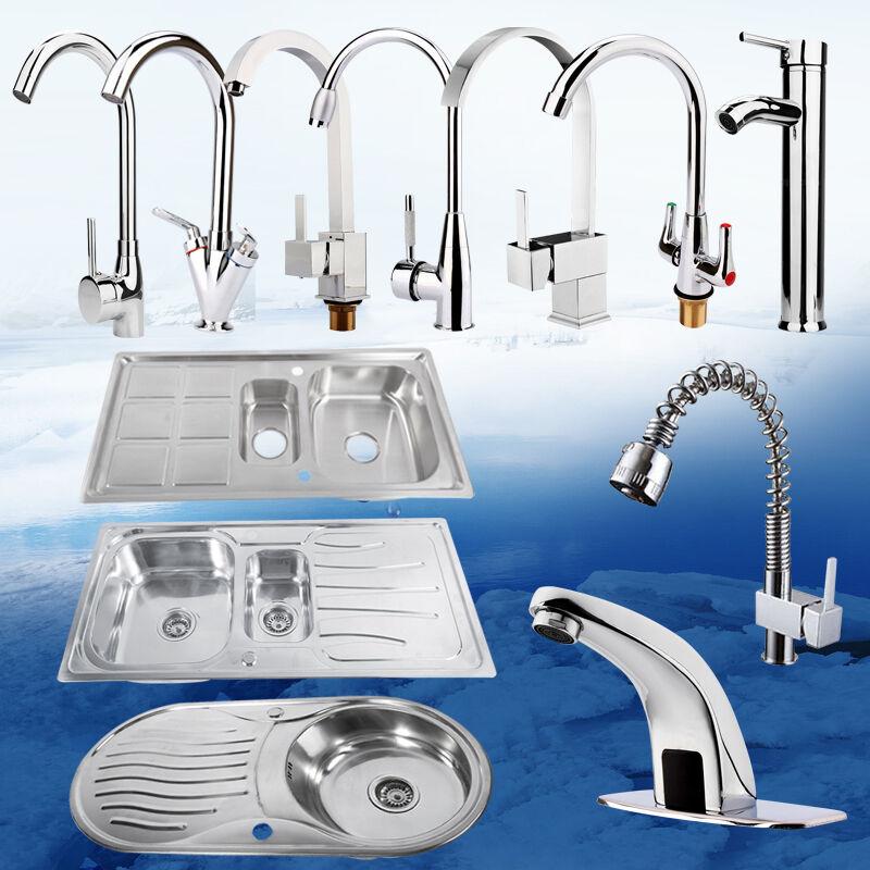 Edelstahl Einbauspüle Küchenspüle Mischbatterie Wasserhahn Küchenarmatur Armatur | Zuverlässige Leistung  | Sale Deutschland  | Elegante Und Stabile Verpackung  | Klein und fein