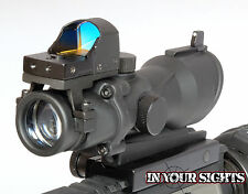 ACOG style Airsoft 4X32 Rifle scope+ Red dot doctor reflex sight/ Fits 20mm rail