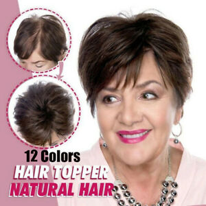 Women-Natural-Full-Cover-Silky-Clip-On-Hair-Topper-Hair-Extension-12-Colors