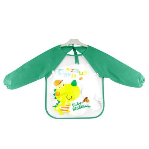 Cute Baby Toddler Long Sleeve Bibs Child Kids Feeding Smock Apron Waterproof ESM