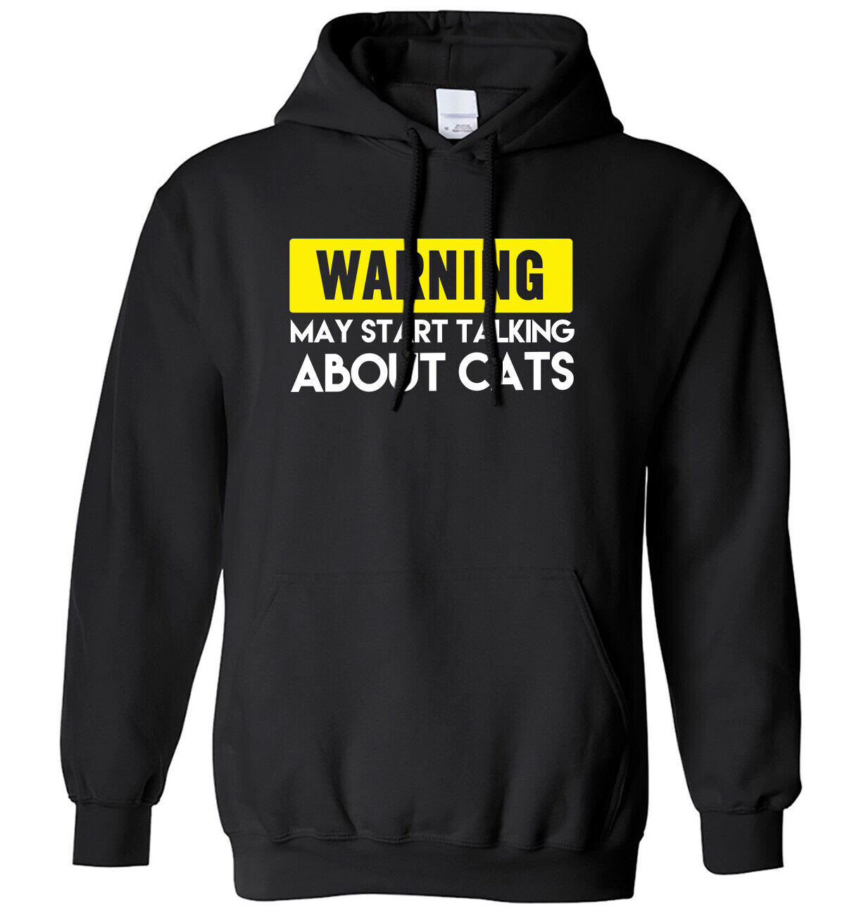 Warning May Start Talking About Cats Mens Womens Hoodie
