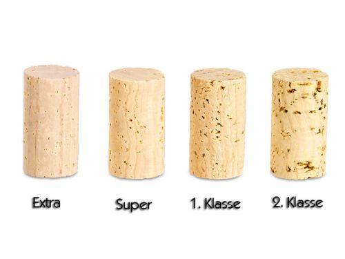 SUPER ANGEBOT 50 Stück Steril Korken 27 x 24 mm 1 Klasse Weinkorken