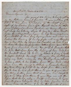 1853 Montville Ohio Ravenna Oh Manuscrit Lettre Document Darius Lyman Robinson Aa4nuDfM-09152904-382908357