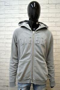 Felpa-Cardigan-Grigio-Uomo-DIESEL-Taglia-XXL-Pullover-Sweater-Man-Grey-Maglione