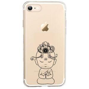 Coque Iphone 7 PLUS 8 PLUS bouddha kawaii noir