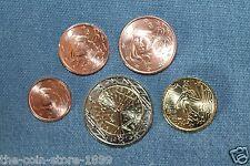 1 + 2 + 5 + 10 Cent + 2 Euro Kursmünze 2015 Frankreich UNC Rolle Kursmünzen RAR!