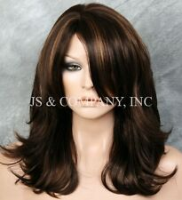 Beautiful Classy Elegance Wavy Brown Strawberry Blonde mix FULL Wig JSMN 4-27