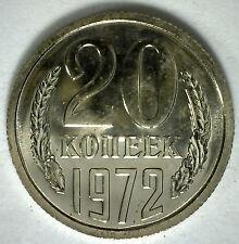 1972 Russia 20 Kopeks Russian SOVIET USSR CCCP Copper Nickel Coin UNC Rare