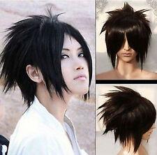 Short black Naruto Sasuke Uchiha cosplay full cospaly wig