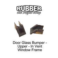 1958 1959 Edsel Door Glass Bumper - Upper In Vent Frame