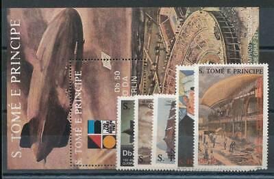Motive Geschickt 234803 Sao Tomé Und Principe Nr.1056-60+bl.180** Zeppeline Verkehr & Transport