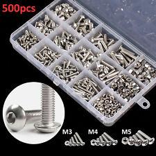 Nut Bolt Assortment Kit Metric Stainless Steel Machine Screws Hex Set 500 Pcs Us