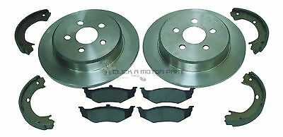 CHRYSLER  PT CRUISER ESTATE CONVERTIBLE REAR BRAKE DISC PAD HANDBRAKE SHOES
