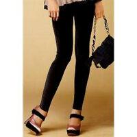 Black Stretch Luxe Velvet -y Leggings Skinny Pants Size 9 - 10 - 11 Large