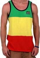 Bob Marley Rasta Stripe Licensed Tank Adult Lightweight Shirt S-2XL